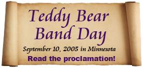 Read the Teddy Bear Band Proclamation